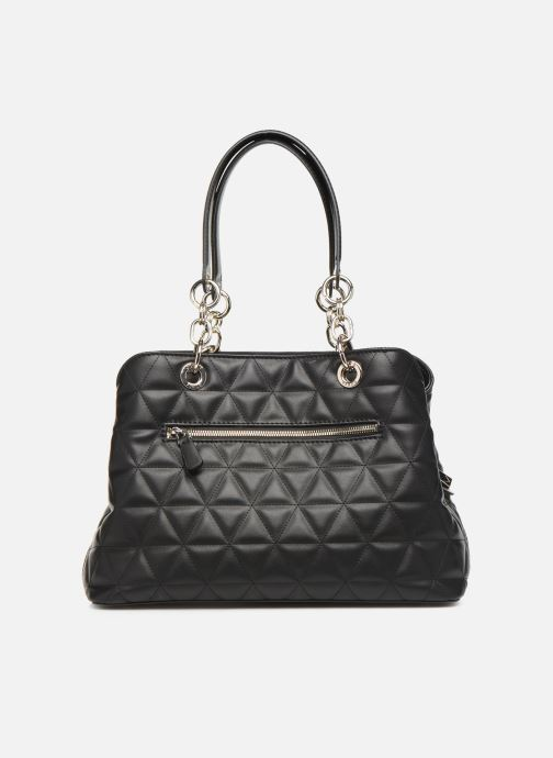 Bolsos de mano Guess LAIKEN GIRLFRIEND SATCHEL Negro vista de frente