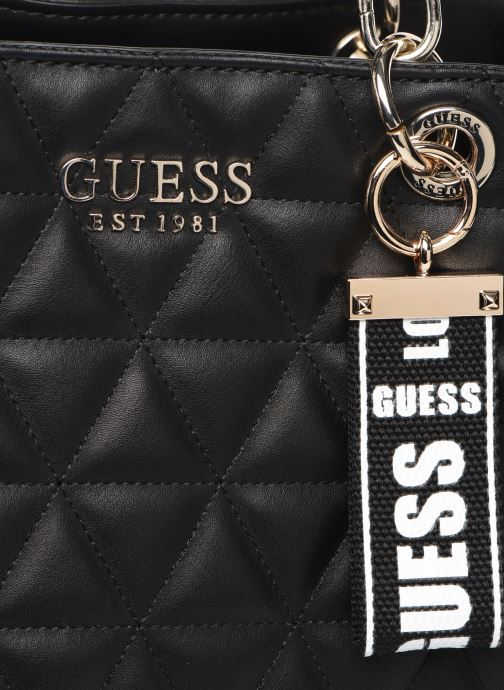 Bolsos de mano Guess LAIKEN GIRLFRIEND SATCHEL Negro vista lateral izquierda