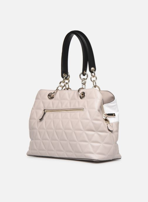Sacs à main Guess LAIKEN GIRLFRIEND SATCHEL Rose vue droite