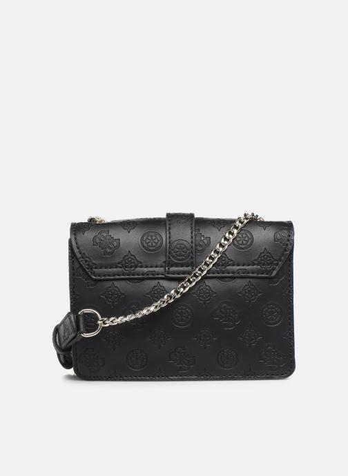 Handtaschen Guess PEONY MINI CROSSBODY FLAP schwarz ansicht von vorne