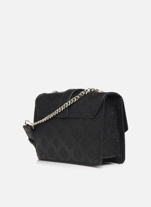 Handtaschen Guess PEONY MINI CROSSBODY FLAP schwarz ansicht von rechts