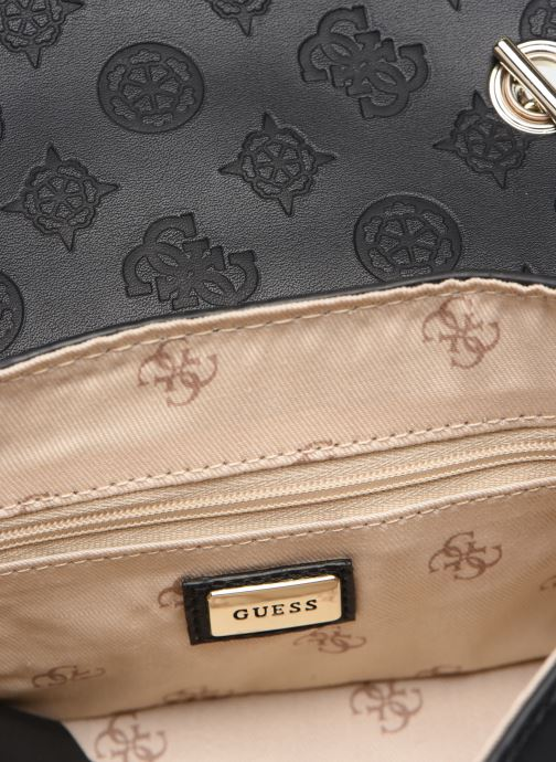 Handtassen Guess PEONY MINI CROSSBODY FLAP Zwart achterkant