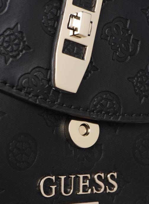 Handtaschen Guess PEONY MINI CROSSBODY FLAP schwarz ansicht von links
