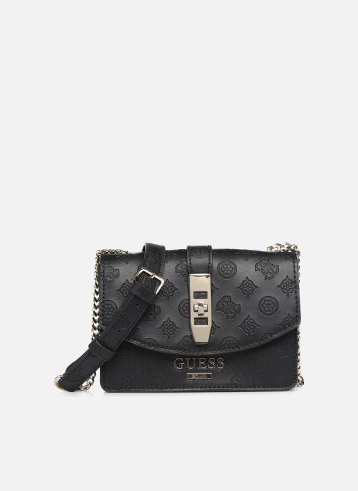 Handtaschen Guess PEONY MINI CROSSBODY FLAP schwarz detaillierte ansicht/modell