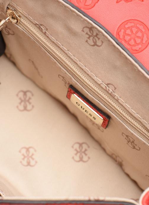 Handtassen Guess PEONY MINI CROSSBODY FLAP Rood achterkant