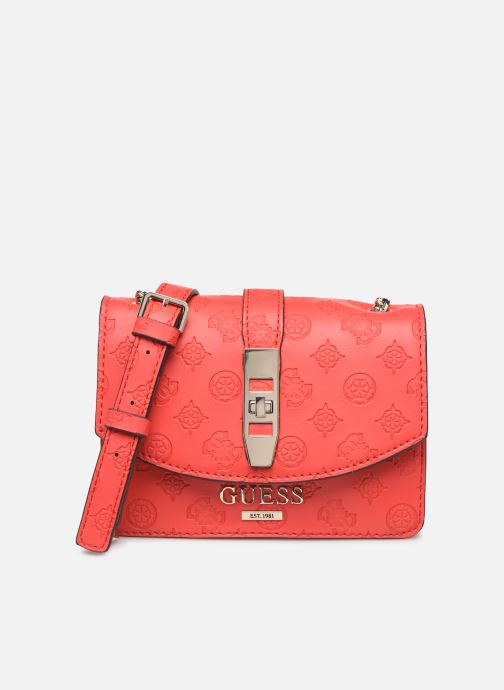 Sacs à main Guess PEONY MINI CROSSBODY FLAP Rouge vue détail/paire