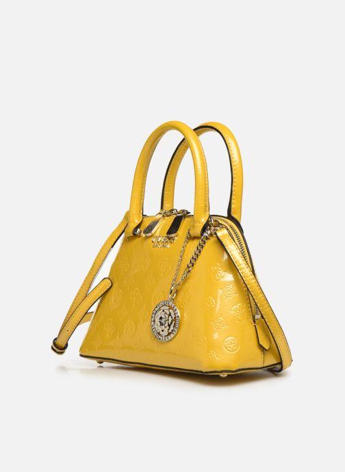 Handbags Guess PEONY SHINE SMALL DOME SATCHEL Yellow model view