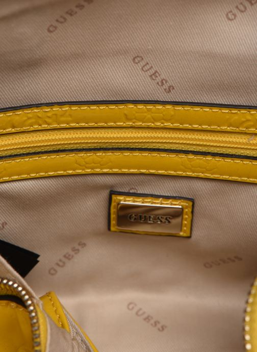 Handbags Guess PEONY SHINE SMALL DOME SATCHEL Yellow back view