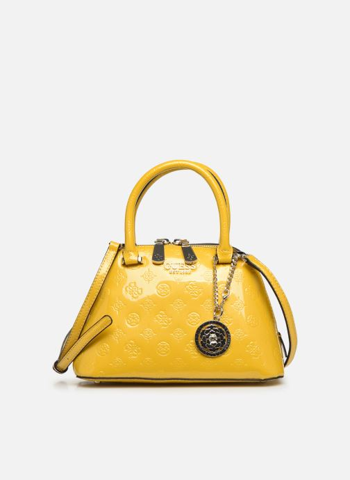 Handbags Guess PEONY SHINE SMALL DOME SATCHEL Yellow detailed view/ Pair view