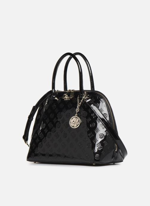 Guess PEONY SHINE LARGE DOME SATCHEL (Zwart) Handtassen
