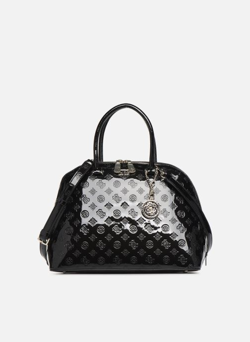 Schwarze GUESS Handtasche PEONY SHINE LARGE DOME SATCHEL