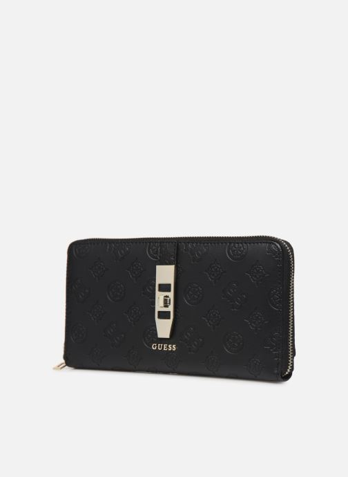 Portemonnaies & Clutches Guess PEONY CLASSIC CHEQUE ORGANIZER schwarz schuhe getragen