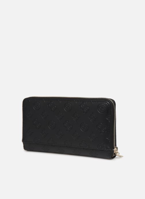 Wallets & cases Guess PEONY CLASSIC CHEQUE ORGANIZER Black view from the right