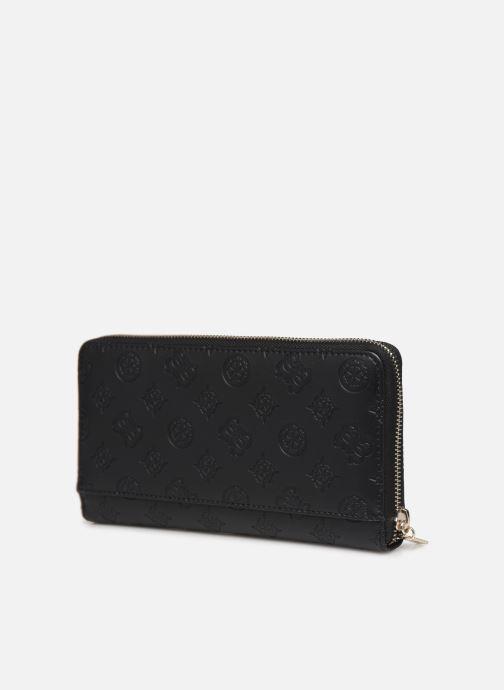 Portemonnaies & Clutches Guess PEONY CLASSIC CHEQUE ORGANIZER schwarz ansicht von rechts