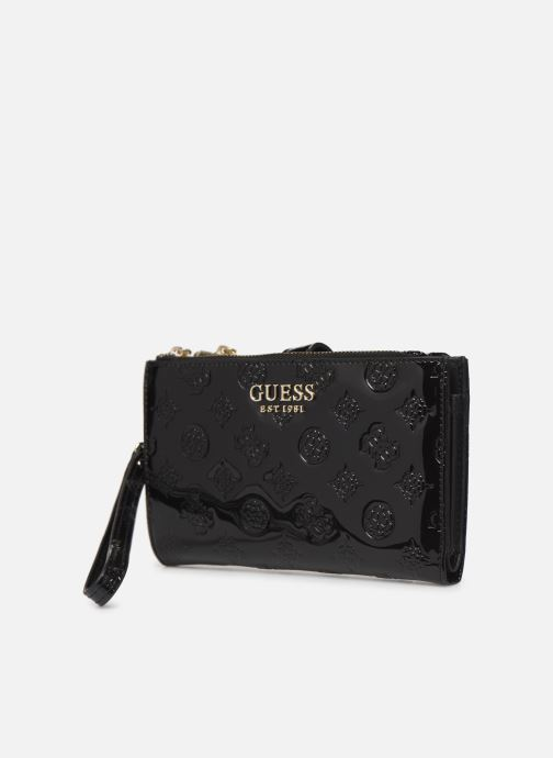 Wallets & cases Guess PEONY SHINE SLG DOUBLE ZIP ORGANIZER Black model view