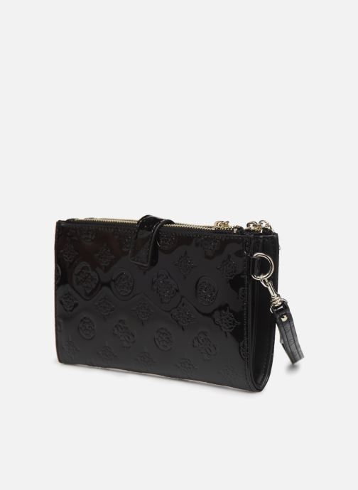 Wallets & cases Guess PEONY SHINE SLG DOUBLE ZIP ORGANIZER Black view from the right