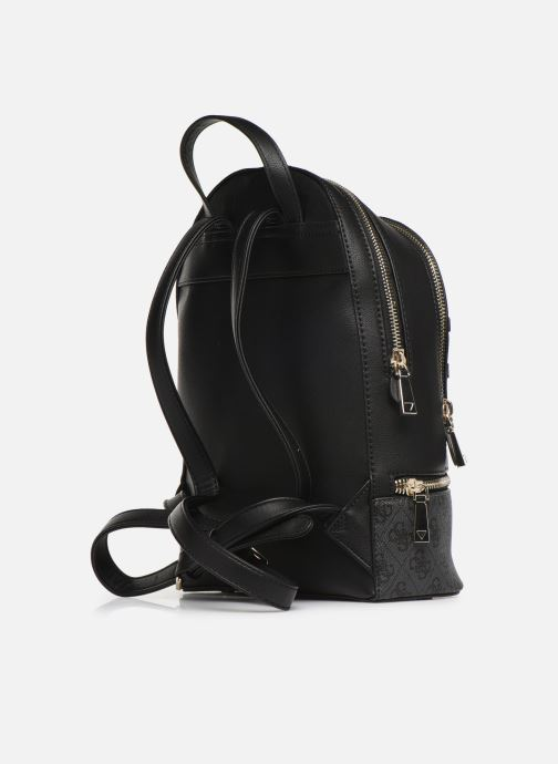 Rucksacks Guess SKYE LARGE BACKPACK Black view from the right