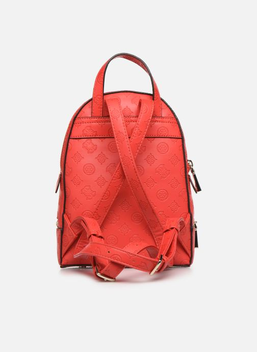 Sacs à dos Guess SKYE SMALL BACKPACK Rouge vue face