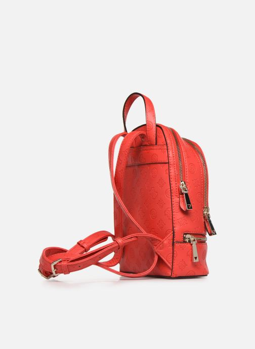 Rucksacks Guess SKYE SMALL BACKPACK Red view from the right