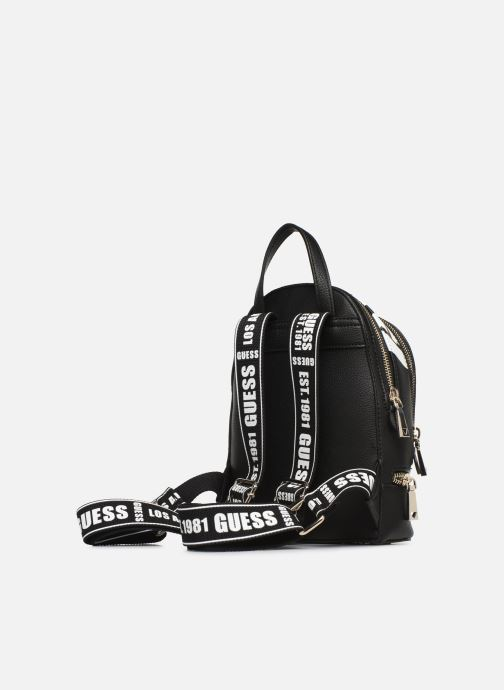 Rucksacks Guess SKYE SMALL BACKPACK Black view from the right