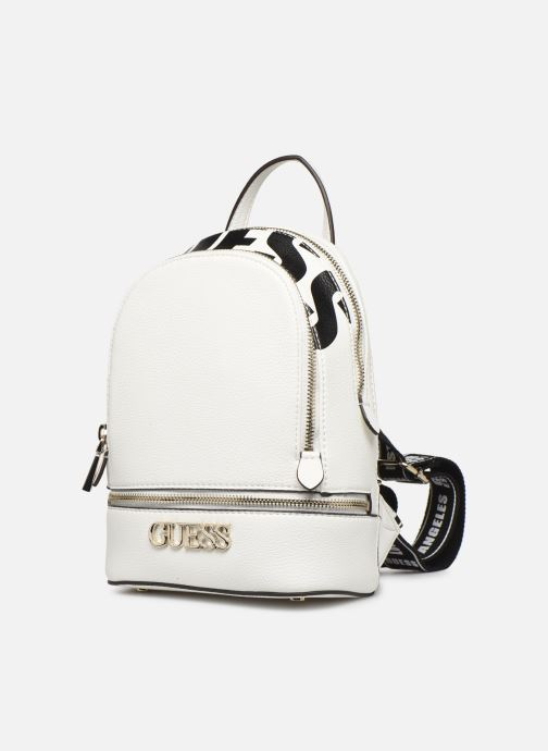Sacs à dos Guess SKYE SMALL BACKPACK Blanc vue portées chaussures