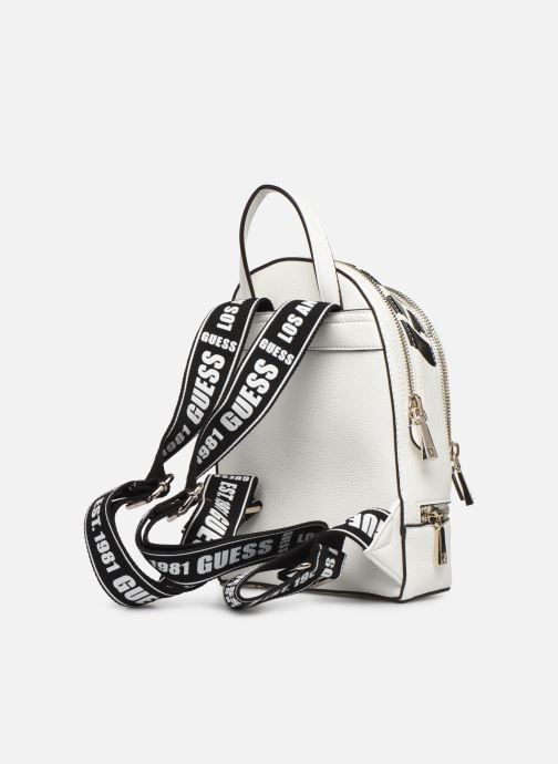 Sacs à dos Guess SKYE SMALL BACKPACK Blanc vue droite