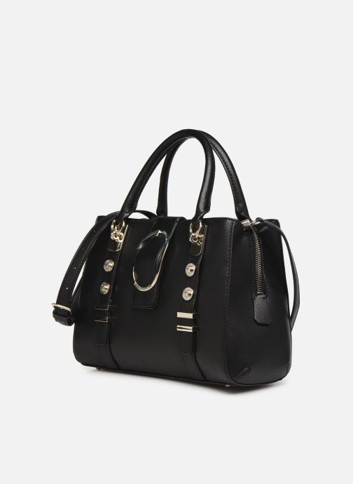 Bolsos de mano Guess ZAYA GIRLFRIEN SATCHEL Negro vista del modelo