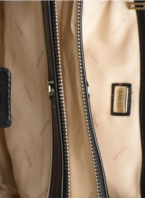 Handtassen Guess ZAYA GIRLFRIEN SATCHEL Zwart achterkant
