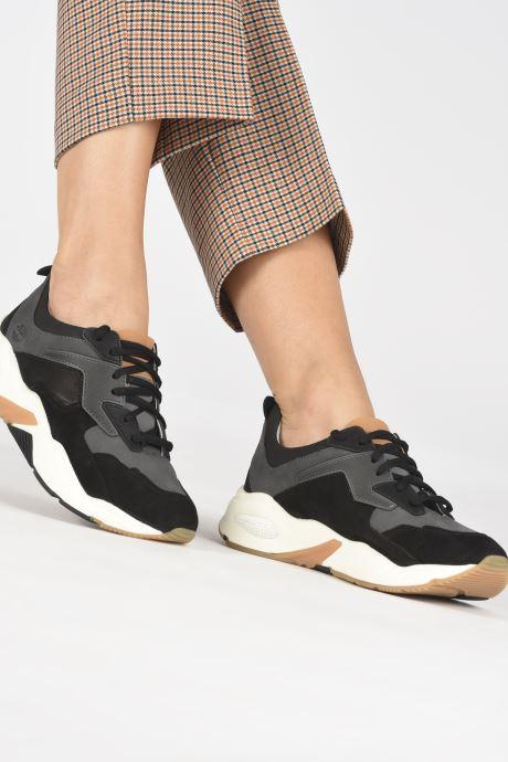 Baskets Timberland Delphiville Leather Sneaker Noir vue bas / vue portée sac