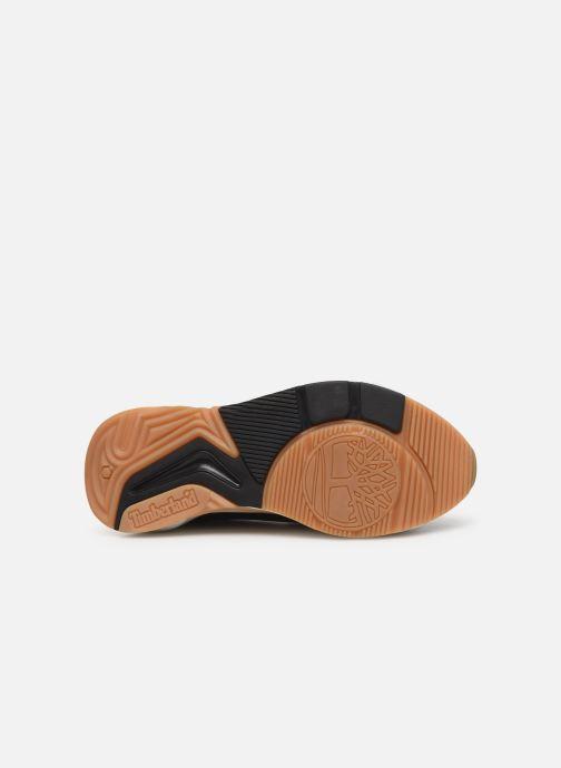 Baskets Timberland Delphiville Leather Sneaker Noir vue haut