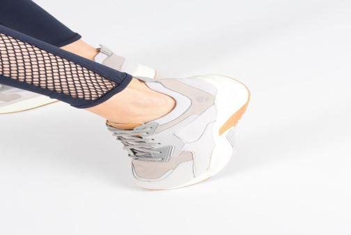 Baskets Timberland Delphiville Leather Sneaker Violet vue bas / vue portée sac