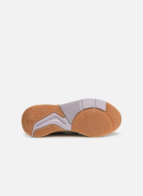 Baskets Timberland Delphiville Leather Sneaker Violet vue haut