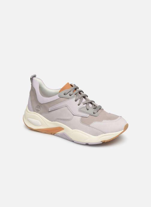 Baskets Timberland Delphiville Leather Sneaker Violet vue détail/paire