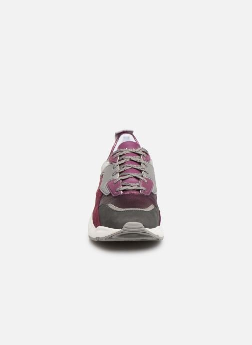 Deportivas Timberland Delphiville Leather Sneaker Violeta      vista del modelo