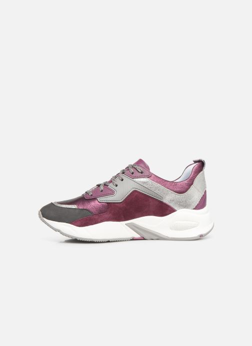 Deportivas Timberland Delphiville Leather Sneaker Violeta      vista de frente