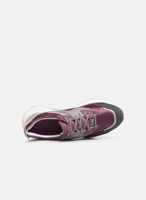 Trainers Timberland Delphiville Leather Sneaker Purple view from the left