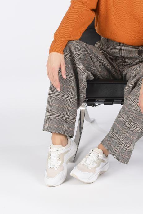 Baskets Timberland Delphiville Leather Sneaker Blanc vue bas / vue portée sac