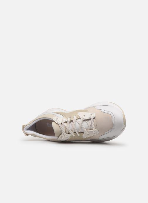Baskets Timberland Delphiville Leather Sneaker Blanc vue gauche
