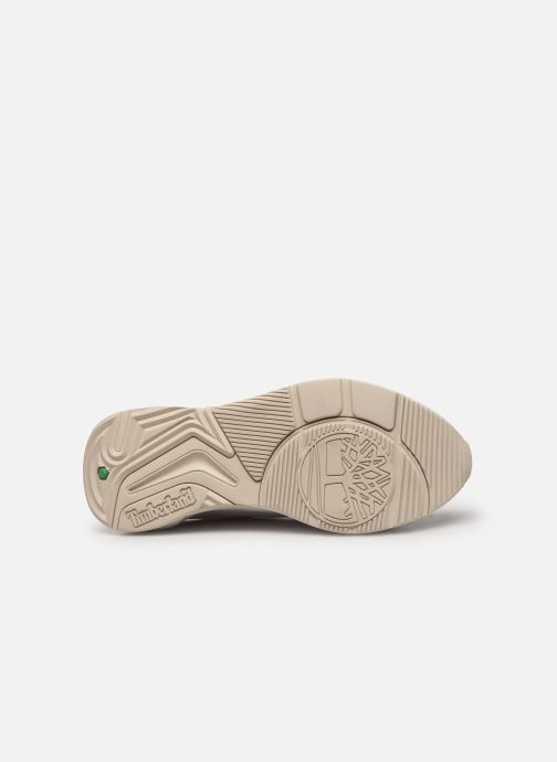 Baskets Timberland Delphiville Leather Sneaker Blanc vue haut