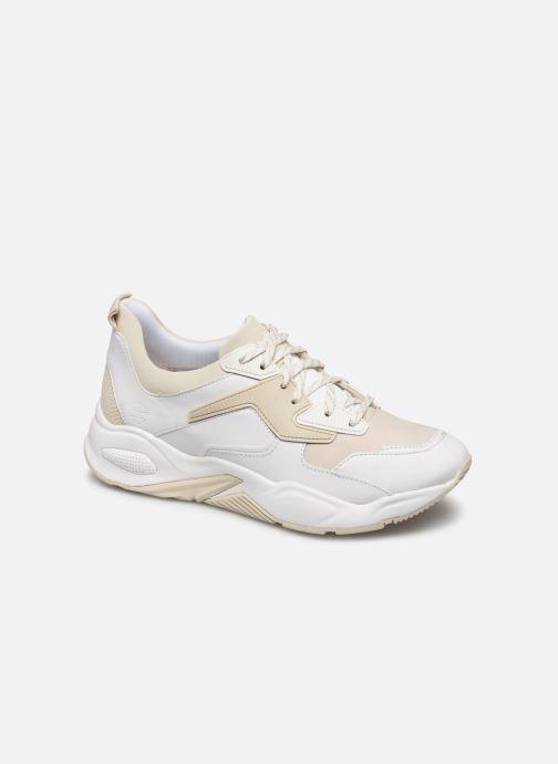 Baskets Timberland Delphiville Leather Sneaker Blanc vue détail/paire