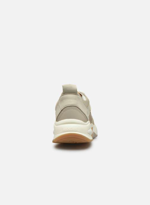 Baskets Timberland Delphiville Leather Sneaker Beige vue droite