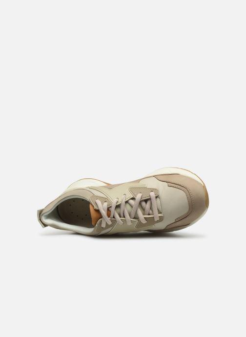 Baskets Timberland Delphiville Leather Sneaker Beige vue gauche