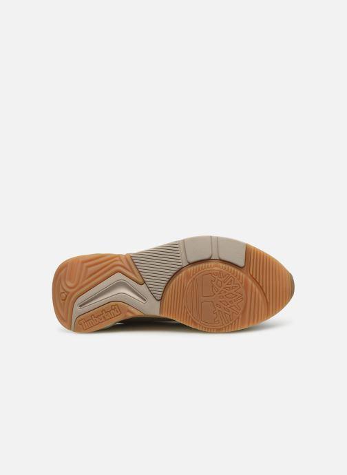 Baskets Timberland Delphiville Leather Sneaker Beige vue haut