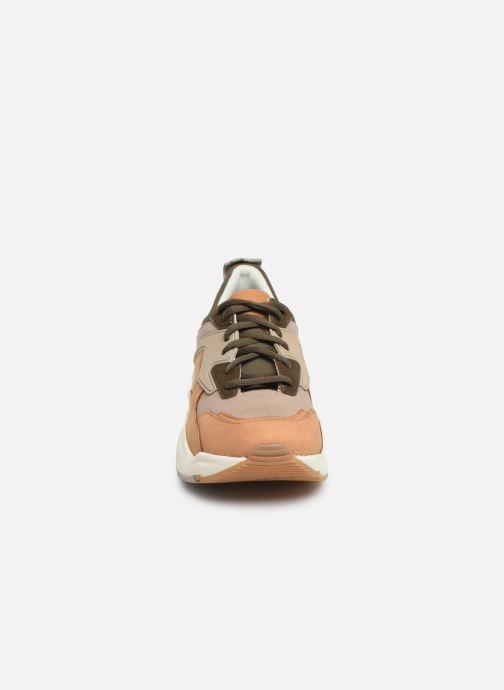Baskets Timberland Delphiville Leather Sneaker Marron vue portées chaussures