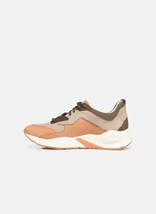Sneakers Timberland Delphiville Leather Sneaker Bruin voorkant