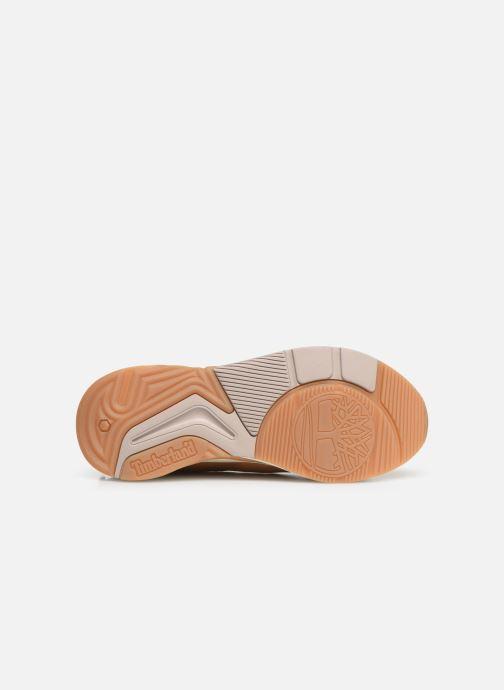 Baskets Timberland Delphiville Leather Sneaker Marron vue haut