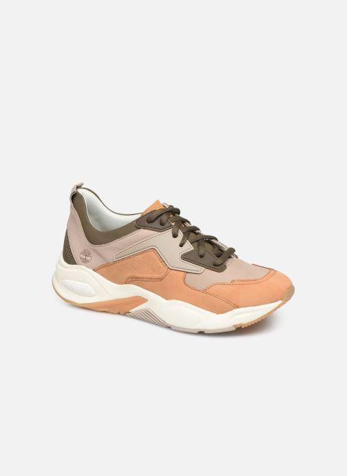 Baskets Timberland Delphiville Leather Sneaker Marron vue détail/paire