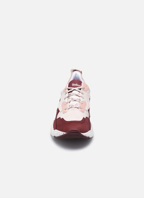 Deportivas Timberland Delphiville Leather Sneaker Vino vista del modelo