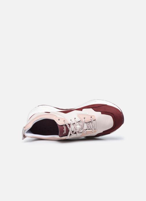 Baskets Timberland Delphiville Leather Sneaker Bordeaux vue gauche