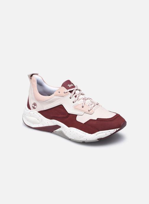 Baskets Timberland Delphiville Leather Sneaker Bordeaux vue détail/paire